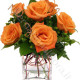 Bouquet di 5 Rose arancio
