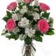 Bouquet di Alstroemeria e Rose rosa