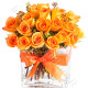 Bouquet di 18 Rose arancio