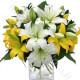 Bouquet di Gigli gialli e bianchi
