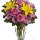 Bouquet di Rose, Gigli e Margherite