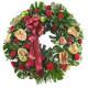 Corona funebre di Anthurium e  Rose rosse