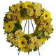 Corona funebre di Orchidee, Rose e Gerbere