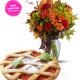 Crostata alla Marmellata con bouquet di Roselline