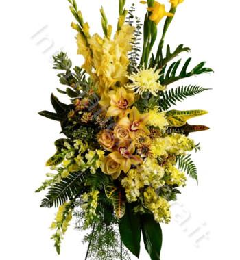 cuscino-lutto-orchidee-fiori-gialli