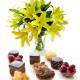 Pasticcini con bouquet di Gigli