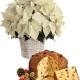 Stella di Natale bianca con Panettone