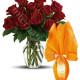 Bouquet di 12 Rose con Uovo di Pasqua