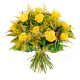 Bouquet di 12 Rose gialle con Mimosa
