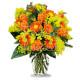 Bouquet di Gerbere, Roselline e Mimosa