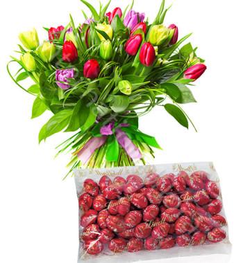 bouquet-di-tulipani-colorati-ovetti-lindt