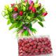 Bouquet di Tulipani con Ovetti Lindor