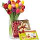 Bouquet di Tulipani con Gold Bunny Lindt