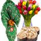 Bouquet di Tulipani con Uovo e Colomba di Pasqua