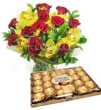 bouquet-rose-orchidee-ferrero-rocher