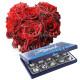 Piccolo Cuore di Rose rosse con Baci Perugina