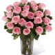 Bouquet di 24 Rose rosa