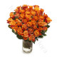 Bouquet di 50 Rose arancio