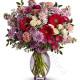 Bouquet di Fiorellini misti dai toni del rosso