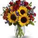 Bouquet di Girasoli, Rose e Fiorellini