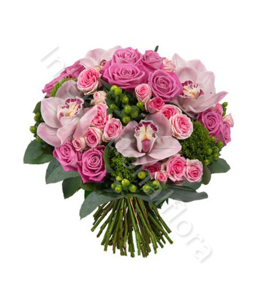 Preferenza Bouquet di Rose, Roselline e Orchidee GL59