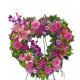 Corona funebre di Gigli e Garofani rosa