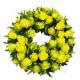 Corona funebre di Rose gialle