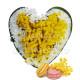 Cuore di Mimose e Margherite con Macaron