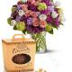 Bouquet di Tulipani Roselline e Uovo alle nocciole