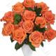 Bouquet di 12 Rose arancio