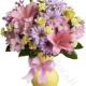 Bouquet di Rose, Gigli, Alstroemeria, Margherite e Garofani