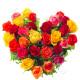 Cuore di Rose di colori misti