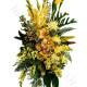 Cuscino funebre di Orchidee e Fiori gialli