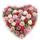 Cuore di Rose rosse, bianche e rosa