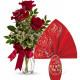 Tre Rose rosse con Uovo di Pasqua Lindor