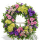 Corona funebre di Rose e Garofani